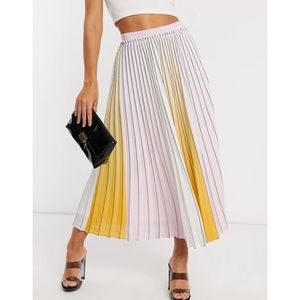 Ted Baker Noviia Ombré Pleated Midi Skirt